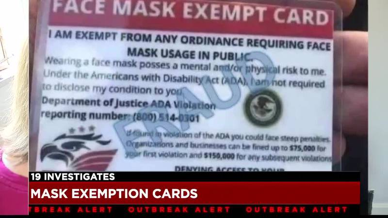 'Civil rights' organization creating 'mask exemption cards' responds to accusations of fraud...
