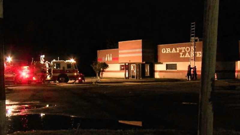 Crews are investigating what caused the fire at the Grafton Bowling Center.