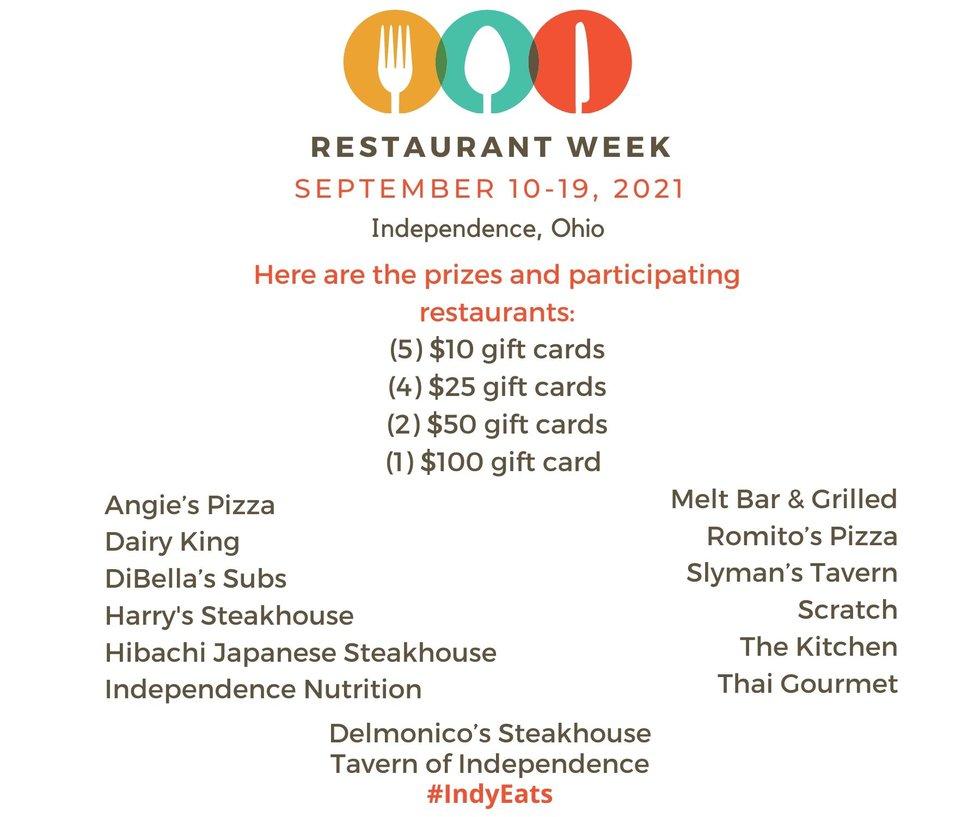 14 restaurants featured in first-ever Independence Restaurant Week