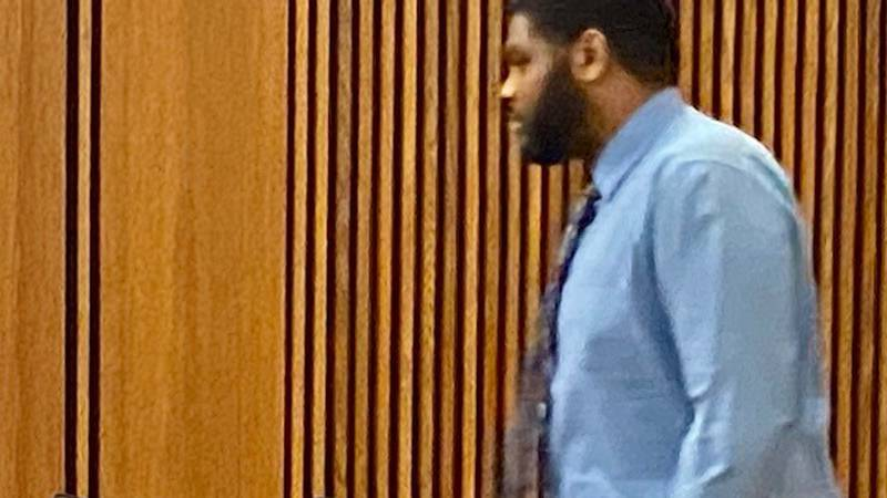 Guard admits he's guilty of pepper spraying a restrained inmate.