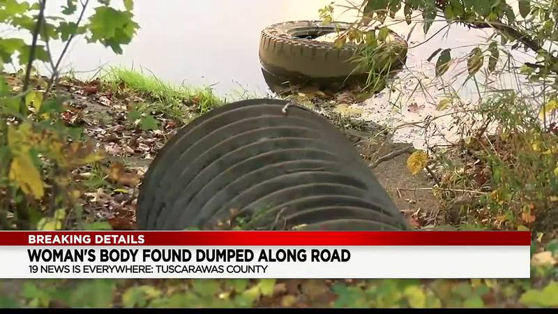 Woman's body wrapped in plastic found on Tuscarawas County road