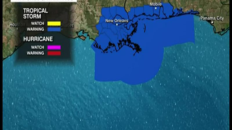 High winds and heavy rains buffeted coastal Louisiana and Mississippi on Friday as a...