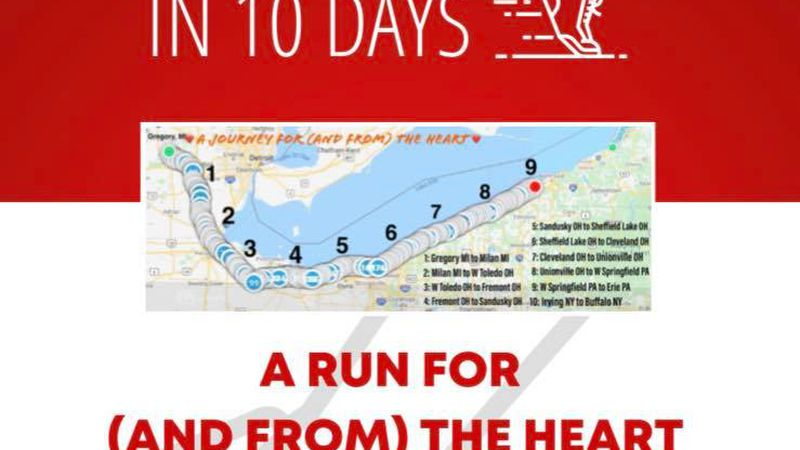 Kevin VilleMonte is setting out to run 310 miles in 10 days.