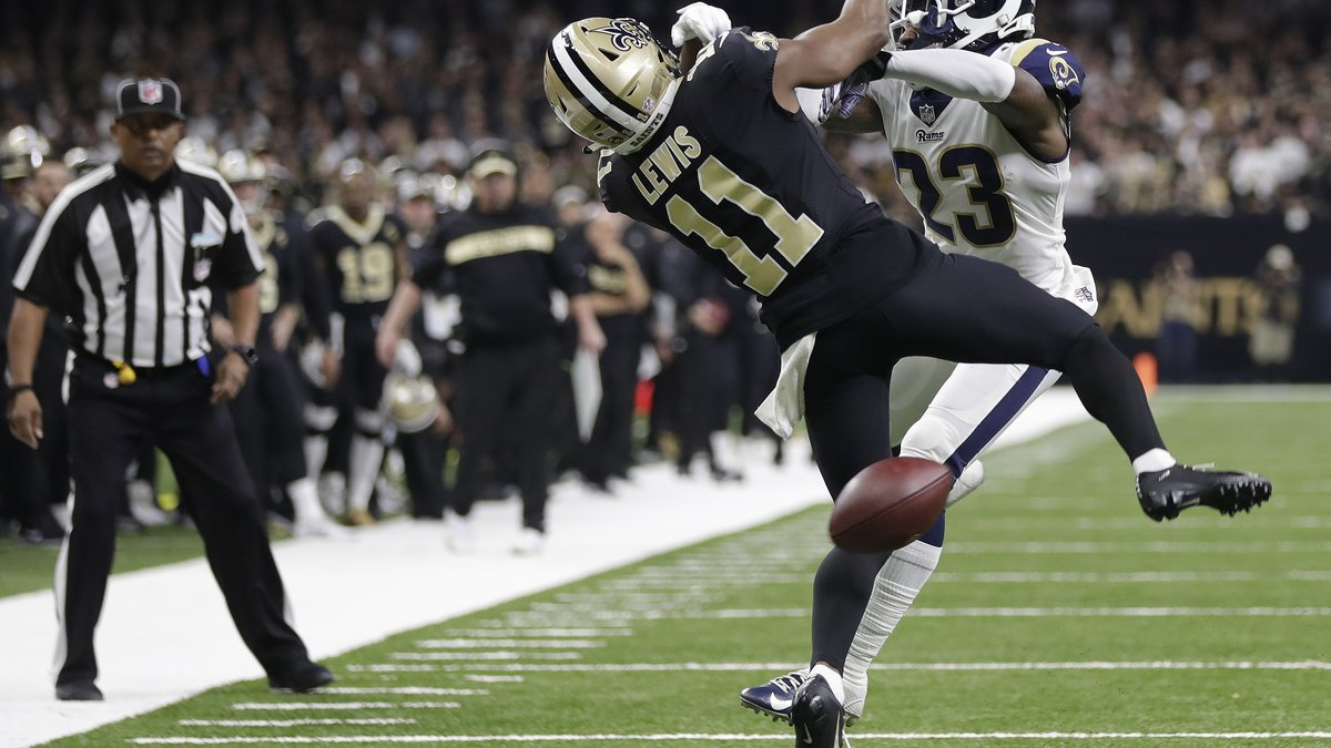 FILE-In this Sunday, Jan. 20, 2019 file photo, New Orleans Saints wide receiver Tommylee Lewis...