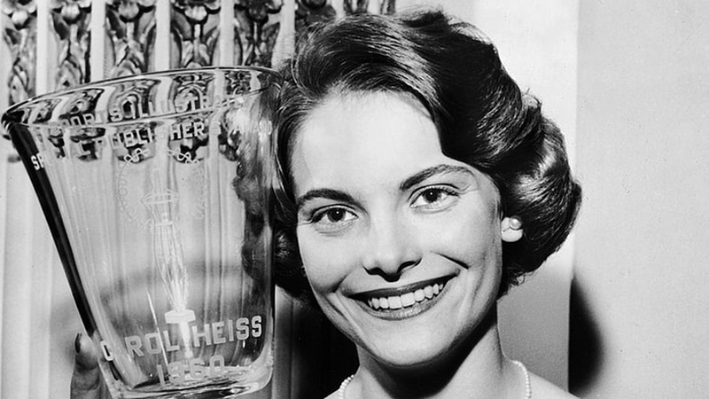 Figure skating champion and winter olympic gold medalist Carol Heiss-Jenkins. (Source: Wikipedia)