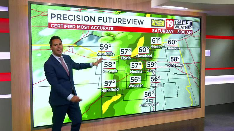 Northeast Ohio weather: Temperatures don't climb out of the 50s on Thursday