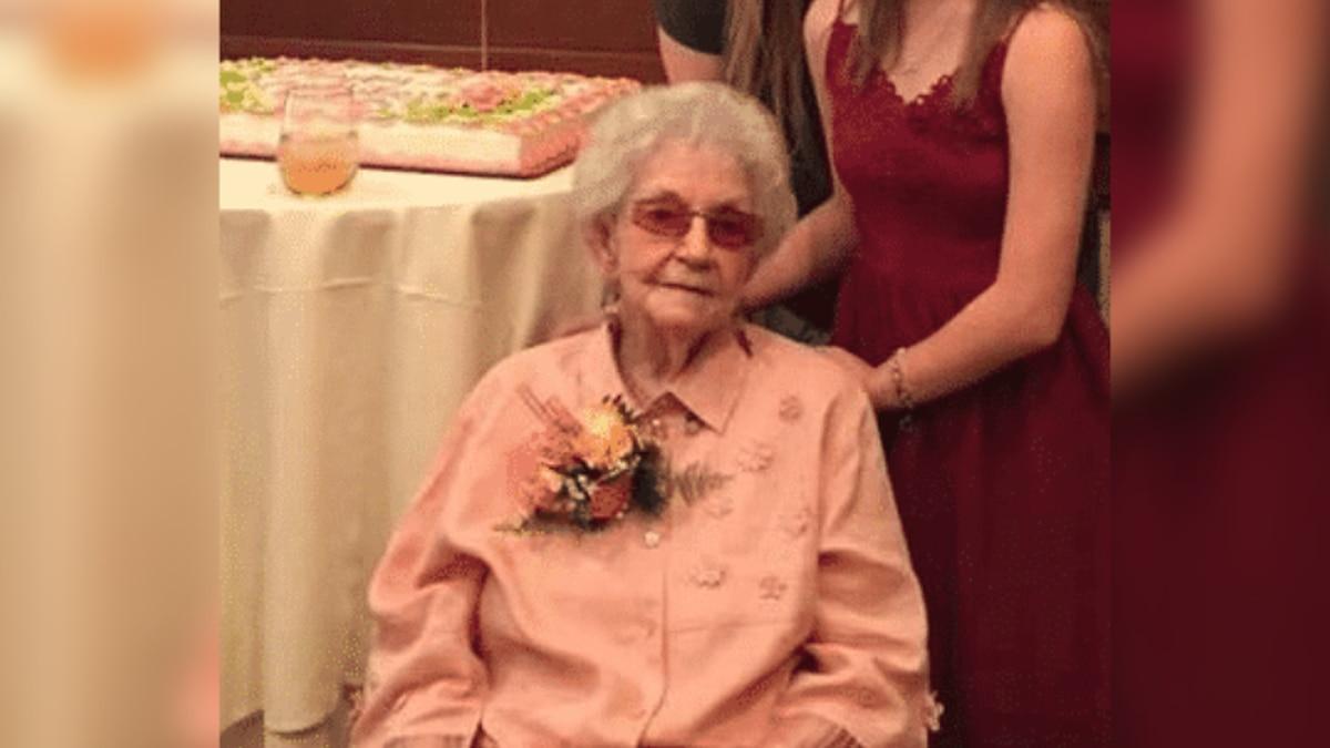 Isabelle Marino celebrates her 100th birthday.