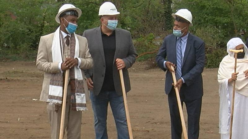 A groundbreaking was held Monday for the new Addis View Apartments in Cleveland's Hough...