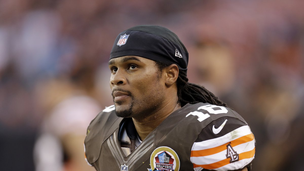 Cleveland Browns wide receiver Josh Cribbs during an NFL football game against the Washington...