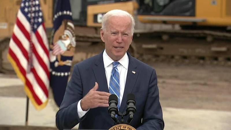 President Joe Biden pitches his economic agenda in Michigan as progress stalls on Capitol Hill.