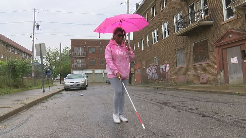 56-year-old Monica Avery depends on the 38-bus line. Avery is nearly blind and with her...