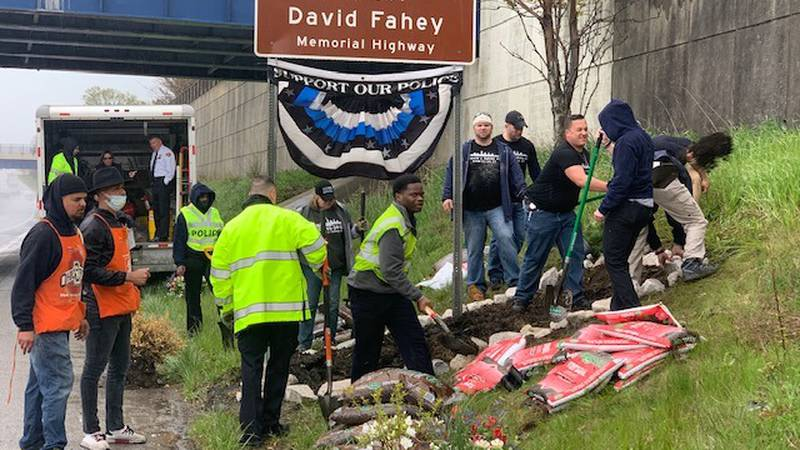 Officer David Fahey honored