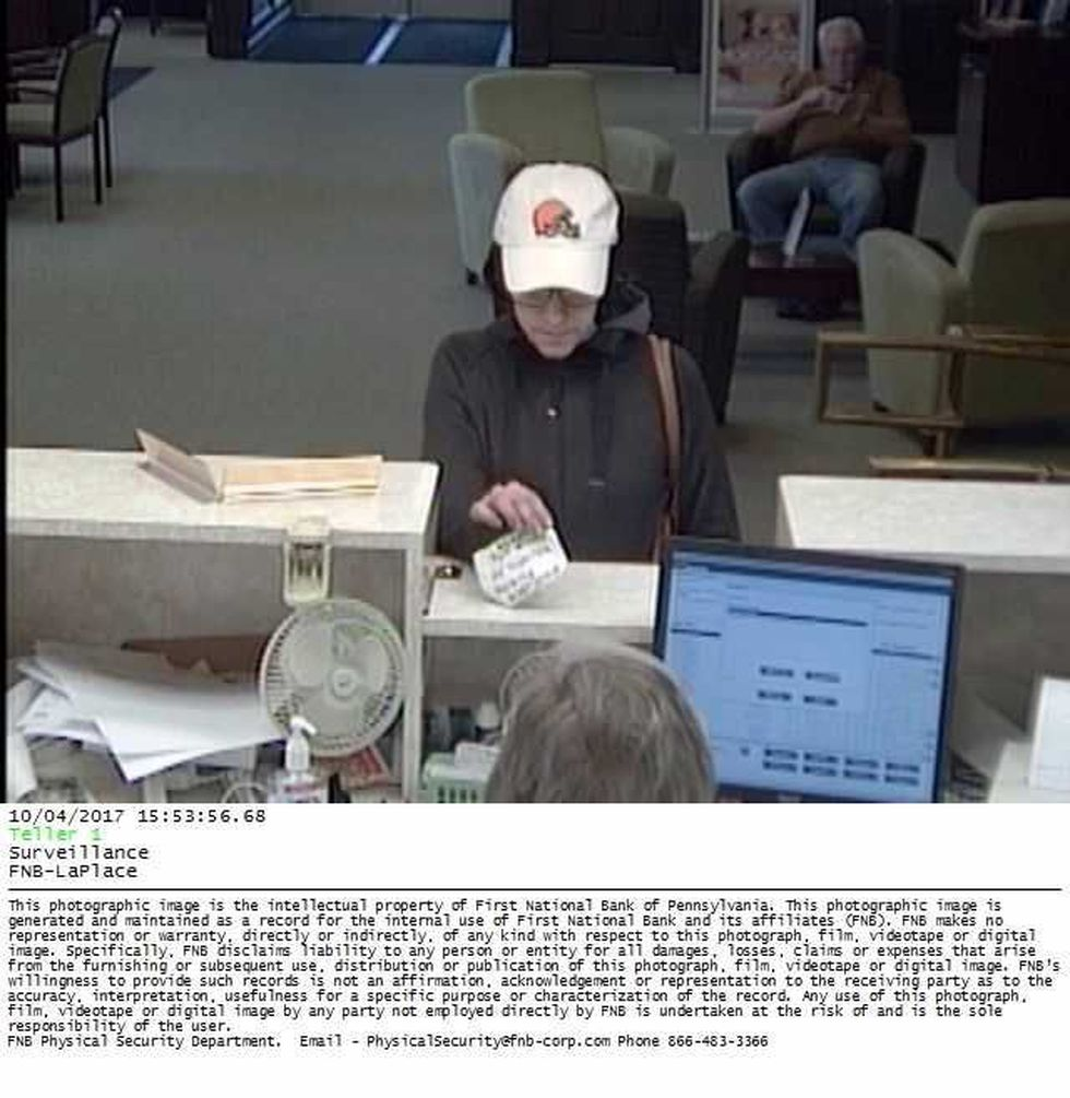 The suspect is also wanted from a bank robbery in Beachwood in September. (Source: FBI)