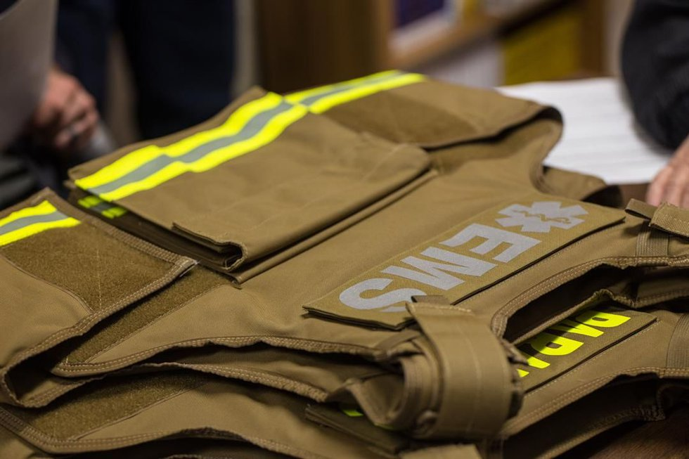 Fire personnel will wear the ballistic protection when responding to violent or potentially...