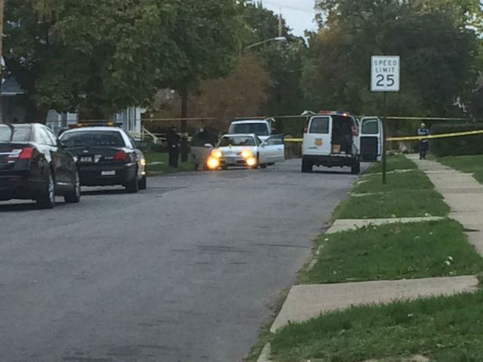 Active scene at East 143rd and Kinsman (Source: WOIO)