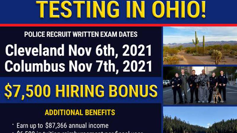 Phoenix Police are recruiting officers in Ohio.
