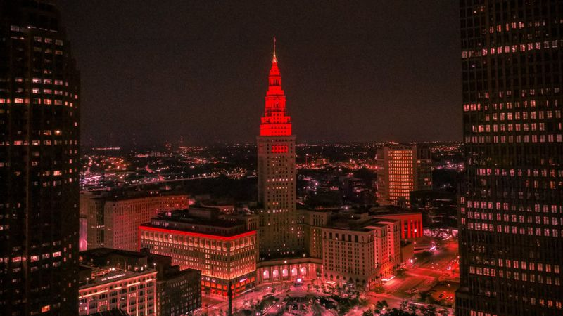 Terminal Tower will be red Wednesday night and Thursday morning to celebrate NASA's...