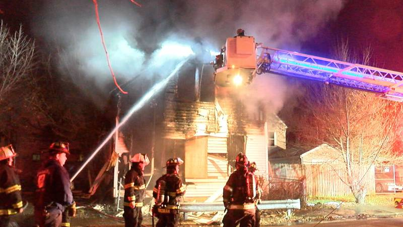 Neighbors are concerned after a vacant house caught fire Thursday morning in Cleveland.