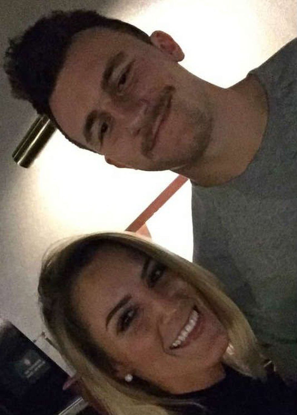 Ashley and Johnny Manziel at Dave & Buster's. (Source: twitter)