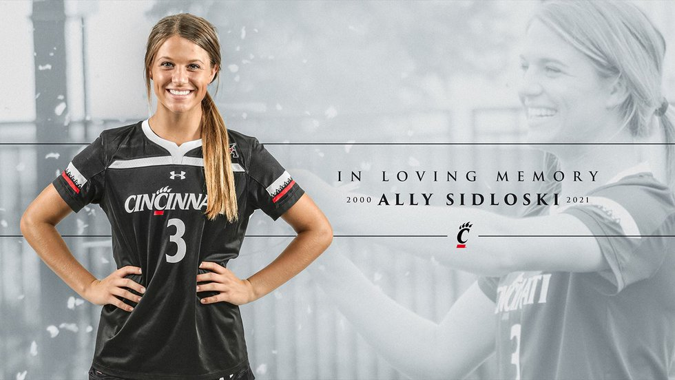 """UC Athletics mourn loss of Ally Aidloski, 21, who """"tragically passed away"""" Saturday."""